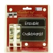 Haute Decor mantel clips with chalkboards