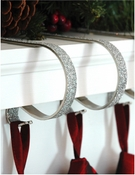 Mantle clips silver glitter
