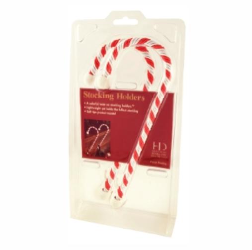 Original haute decor candy cane stocking holders anglo for Haute decor