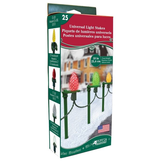 adams christmas light stakes for paths and driveways 25ct pack product code 9105 99 1630 case pack 12