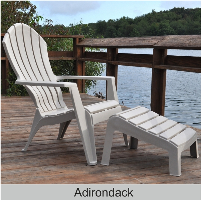 Adams resin ergo adirondack chair adams resin stacking for Adams mfg corp white reclining patio chaise lounge