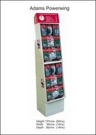 Adams Pre-loaded Christmas Decorating Accessories Powerwing FSDU's with Retail Priced Header.
