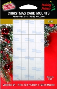 Removable Christmas Card Mounts. Card Hangers. 64ct pack.