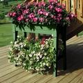 Raised Garden Planter. Legs and Shelf. Sage Green.