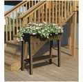 Garden Planter with Legs and Shelf. Earth Brown.
