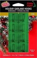 Removable Adhesive Garland Hooks. 8ct pack.