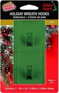 Removable Wreath Hooks for Wood Grain Effect Composite UPVC Doors. 2ct pack.