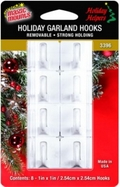 Removable Garland Hooks. 8ct pack.