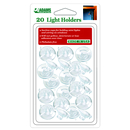 Light Holders for Windows. 20 pack. Product code:- 7501-00-2043. Case Pack 12. This is a Powerwing Display product.