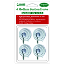 Medium Suction Cups with Metal Hooks. 4 Count Pack. Product code 6500-74-2012. Case Pack 12. This is a Powerwing Display product.