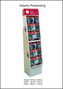 Adams Pre-loaded Christmas Decorating Accessories Powerwing FSDU with Retail Priced Header.
