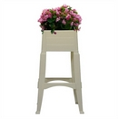 Adams Tall Garden Planter. White.
