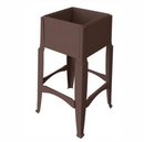 Tall Garden Planter. Dark Brown.