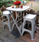 Adams Quik Fold Bistro Table.