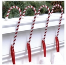 Candy Cane Stocking Holders. Classic Rope.