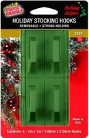 Removable Stocking Hooks. 4ct. pack.