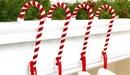 Candy Cane Stocking Holders in Velvet by Haute Decor.